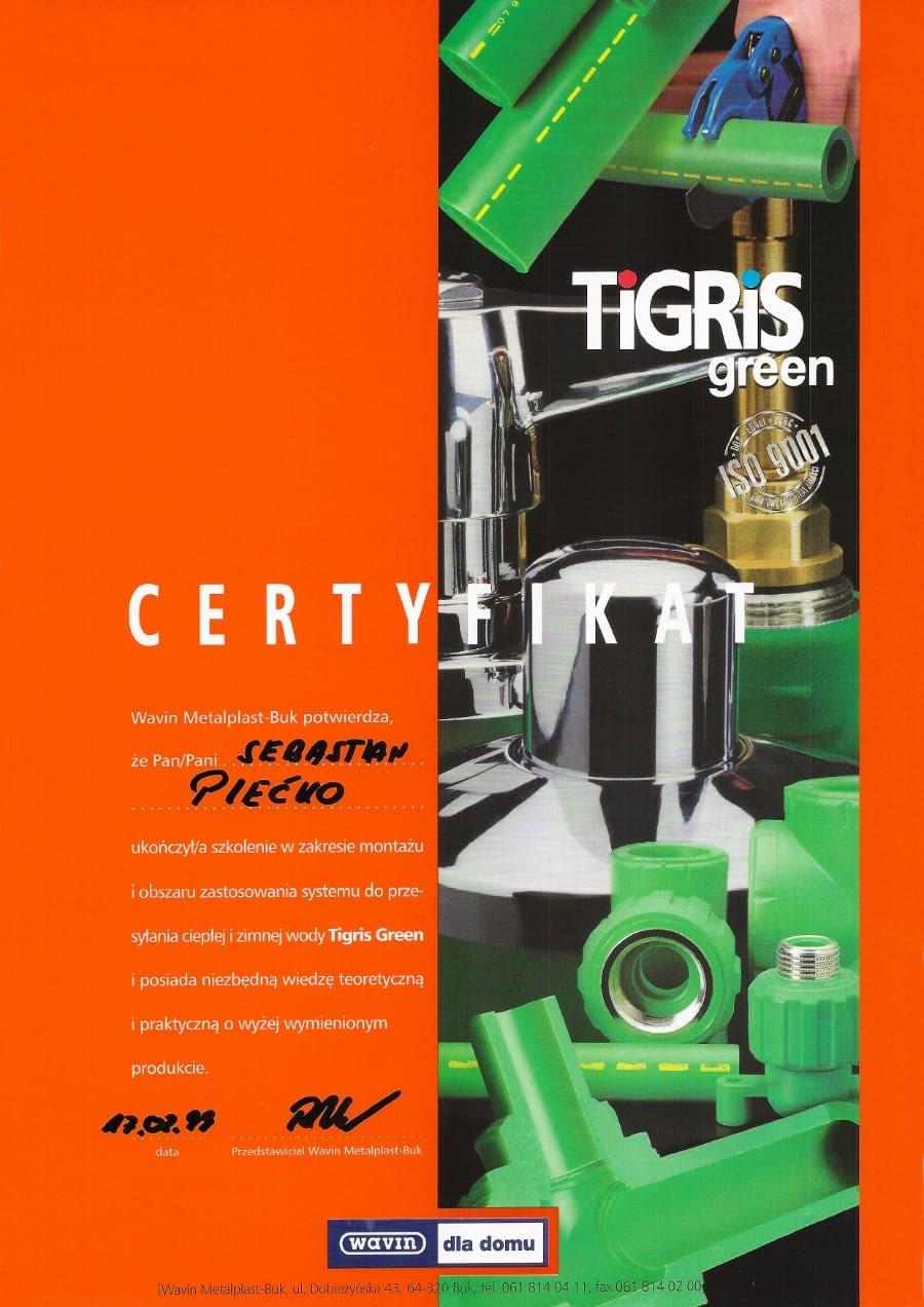 Certyfikat wystawiony wdniu 1998.02.17 przezWavin